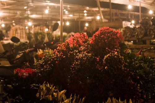 chợ hoa đêm Hà Nội
