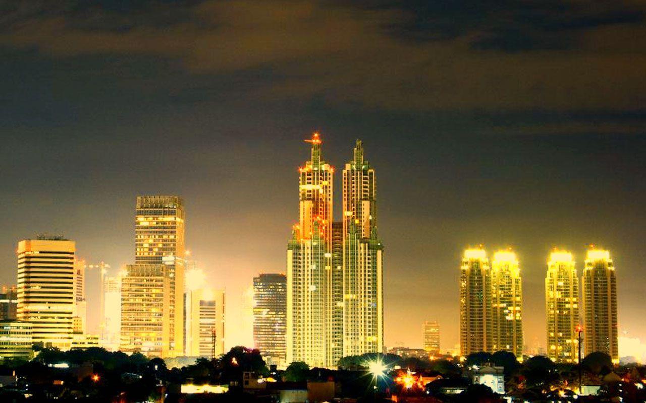 cảnh đêm ở Jakarta