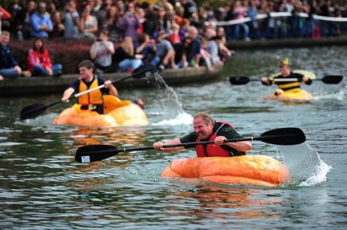 Lễ hội đua thuyền bí ngô ở Đức